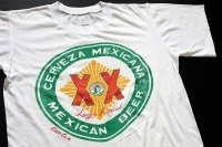 80s メキシコ製 CERVEZA MEXICANA MEXICAN BEER コットンTシャツ 白 L