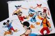 画像1: 80s USA製 Wamsutta ミッキー マウス ミニー ドナルドダック グーフィー プルート コットン タオル セット (1)