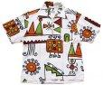 画像1: 70s ハワイ製 LIBERTY HOUSE アート プルオーバー 半袖 コットンシャツ (1)