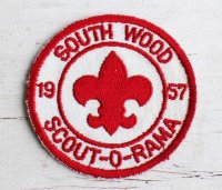 デッドストック★50s BSA ボーイスカウト SOUTH WOOD 1957 SCOUT-O-RAMA パッチ★ワッペン