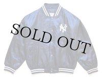 90s MLB New York Yankeesニューヨーク ヤンキース キルティングライナー ナイロンスタジャン 紺 キッズM