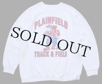 90s USA製 DISCUS PLAINFIELD TRACK&FIELD 両面プリント スウェット 白 XL
