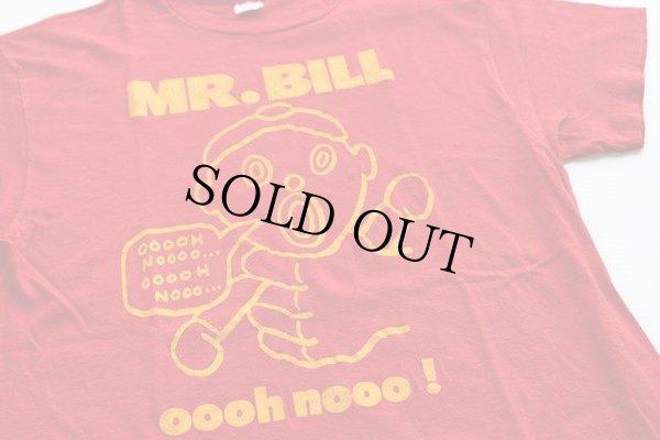 画像1: 70s USA製 Hanes MR.BILL Tシャツ 赤 L