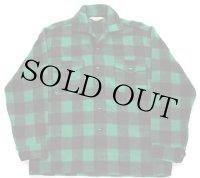 50s カナダ製 GerhardKennedy バッファローチェック ウールシャツ 緑×黒 M