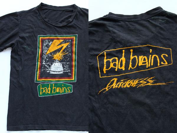 80 s bad brains バッドブレインズ tシャツ sixpacjoe web shop