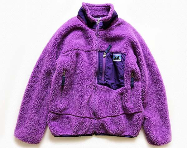 Patagoniaパタゴニア 白タグ 復刻 レトロx フリースジャケット 紫 Kids M Sixpacjoe