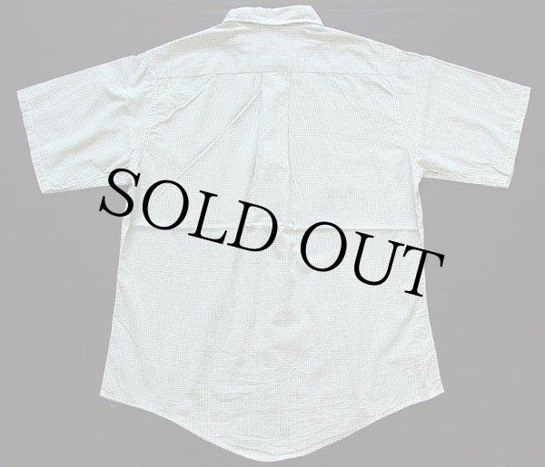 画像2: 60s Sandy Mac Donald チェック 三点留め ボタンダウン 半袖 コットンシャツ M (2)