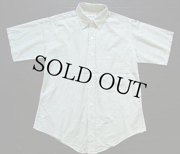 画像1: 60s Sandy Mac Donald チェック 三点留め ボタンダウン 半袖 コットンシャツ M (1)
