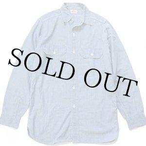 画像: 50s King Kole マチ付き コットン シャンブレーシャツ