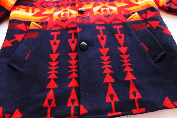 画像: 80s PENDLETONペンドルトン チーフジョセフ ネイティブ柄 ウール ブランケット コート